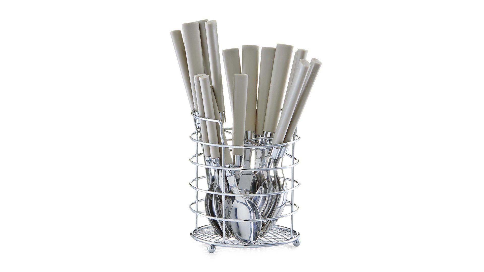 Möbel Hölzle Villingen Schwenningen | Möbel A Z | Küchen | Küchenhelfer |  Besteck Set | Besteck Set, Taupefarbene Kunststoffgriffe   17 Teilig, ...